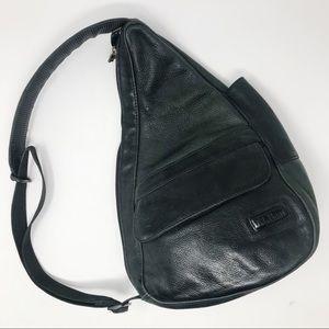LL Bean Ameribag Leather Healthy Backpack Bag vtg